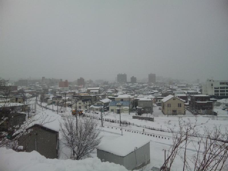 函館本線と小樽市街